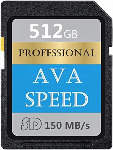 High Performance Tarjeta de Memoria SD 512 GB SDXC Card...