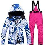 Aitry Winter Outdoor ski Suit Set Women's Windproof Waterproof Warm Single Board Double Board ski Pants Suit
