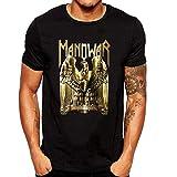XUNLINLL Manowar Logo Men's T Shirt Black
