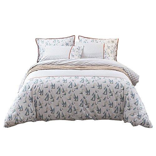 Umi. Essentials - Set de edredón y Dos Fundas de Almohada 100% algodón con Estampado Multicolor (Doble)