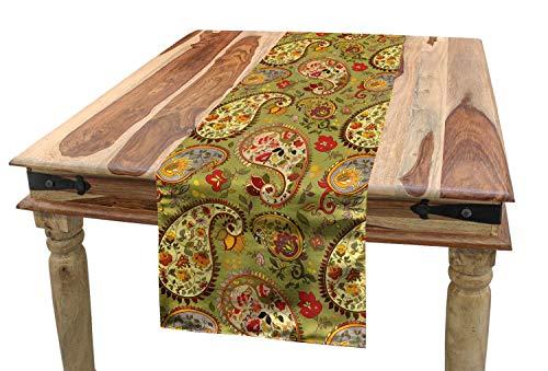 ABAKUHAUS Paisley Tischläufer, Bunte persische Art, Esszimmer Küche Rechteckiger Dekorativer Tischläufer, 40 x 225 cm, Mehrfarbig