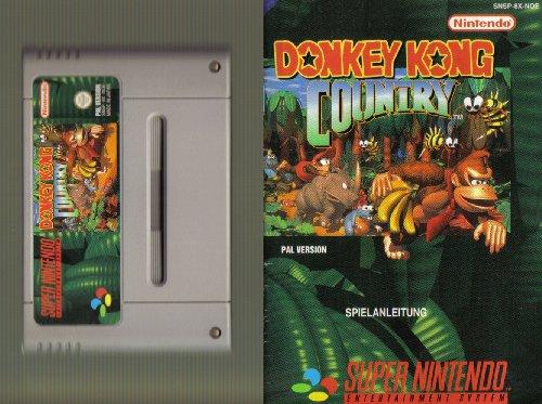 SNES Spiel: Donkey Kong Country 1 + Original deutsche Anleitung, aber ohne Originalverpackung (für SNES Super Nintendo, PAL, deutsch)