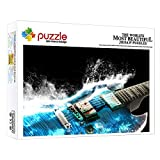 FFGHH Puzzles 1000 Piezas Puzzles Guitarra De Instrumento Musical Puzzle 1000 Piezas Mini Puzzle Rompecabezas Imposible para Adultos Amigo Y Niños 14.96In X 10.23In
