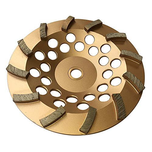 Grinding Wheels for Concrete and Masonry 7' Diameter 12 Turbo Diamond Segments 7/8'-5/8' Arbor