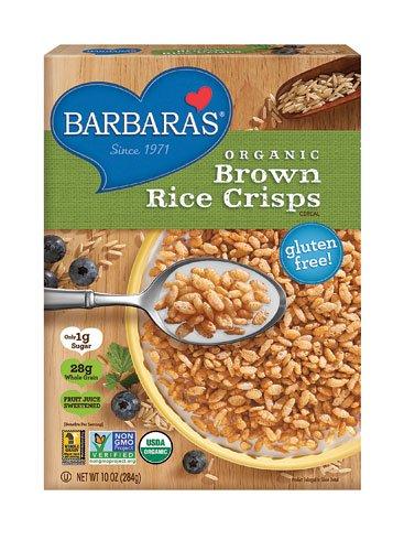 Barbara's Bakery Organic Brown Rice Crisps Cereal -- 10 oz - 2 pc