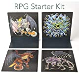 RPG Starter Kit | 4 Monsters with 2 Standing Bases | Great for Dungeons and Dragons (DND) Games