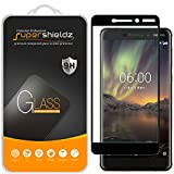 (2 Pack) Supershieldz Designed for Nokia 6.1 (Nokia 6 2018) Tempered Glass Screen Protector, (Full Screen Coverage) Anti Scratch, Bubble Free (Black)