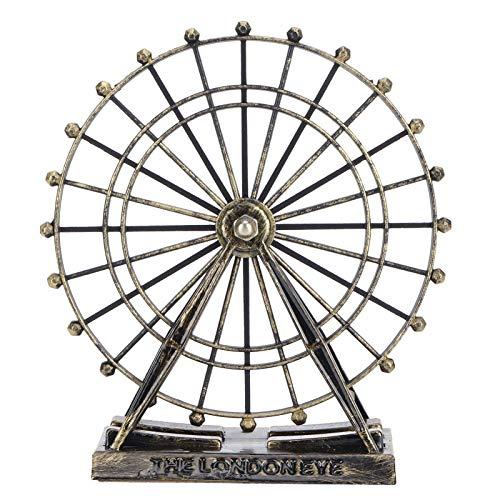 LZKW Modelo de Noria, magníficos Adornos de Hierro Forjado y Estable de Hierro, Eje rodante para Oficina en el Dormitorio de Negocios en el hogar
