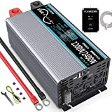 正弦波インバーター 1200W 12Vを100Vに変換 50hz/60hz切り替え可能 瞬間最大2400W 2USBポート付き ACコンセント 3口 リモコン付き