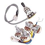 TOOGOO Lp Pastillas de Guitarra Eléctrica Circuito ArnéS de Cableado 2T2V 500K Potes Interruptor de 3 VíAs para Guitarra Estilo de Guitarra