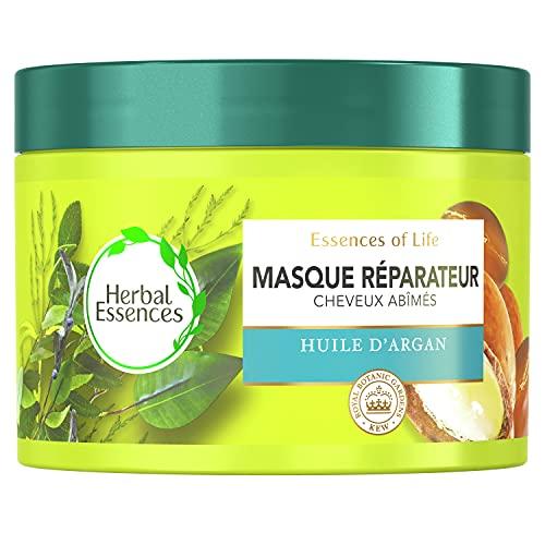 Herbal Essences Masque, Après-Shampoing, Hydratant et Réparateur À L'Huile D'Argan, Nutriments d'Origine Végétale, Pour Cheveux Secs et Abîmés, Lot de 450 ML