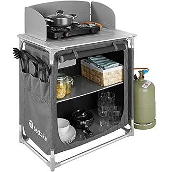 TecTake 800585 Cuisine de Camping Meuble de Jardin - Divers modèles - (Type 3 | n° 402921)