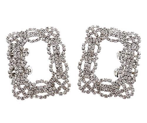 Cristal cuadrado para zapatos con clip y hebilla extraíble con tacón alto