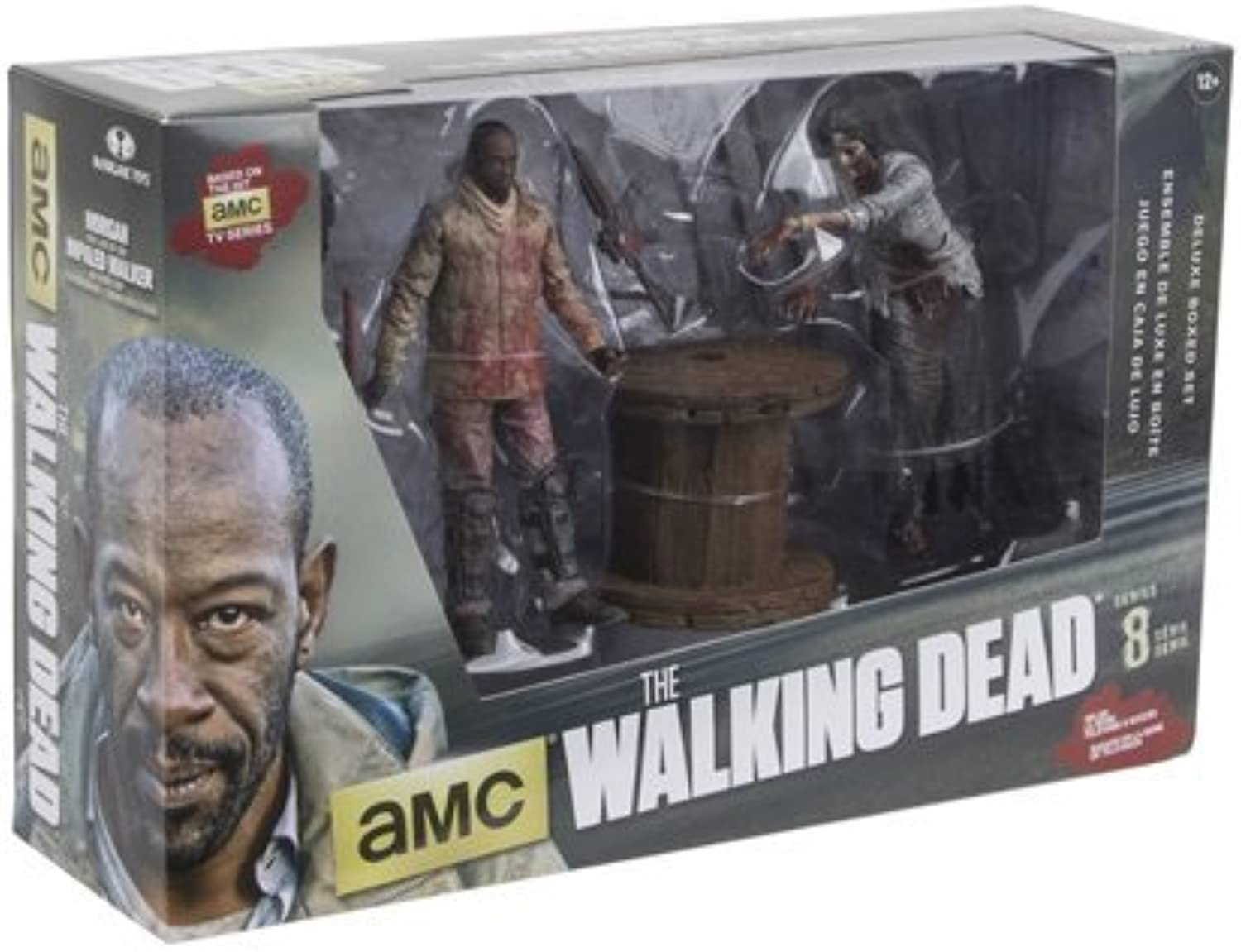 McFarlane Toys The Walking Dead TV Morgan Jones with Impaled Walker and Spike Trap Deluxe Box Action Figure by Unknown