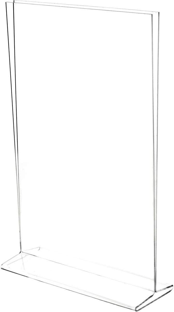 Plymor Clear shop Acrylic Sign Holder Top-Load Literature Display Max 78% OFF