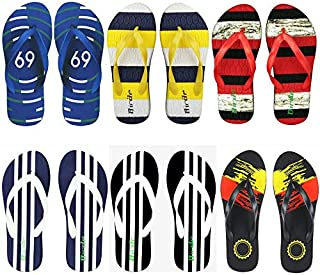 Aura Men EVA Flip Flops - Pack of 6