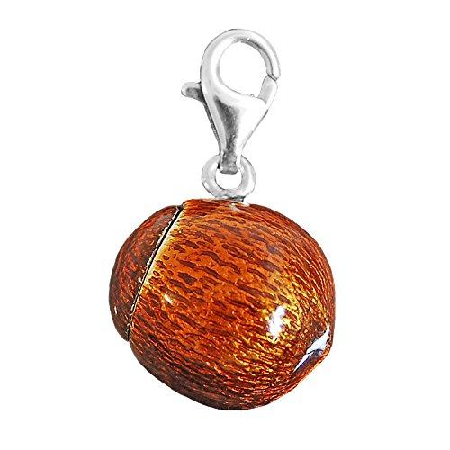 Thomas Sabo cocco simandra Charm ciondolo in argento smaltato colore marrone/crema T0216 - 007-2