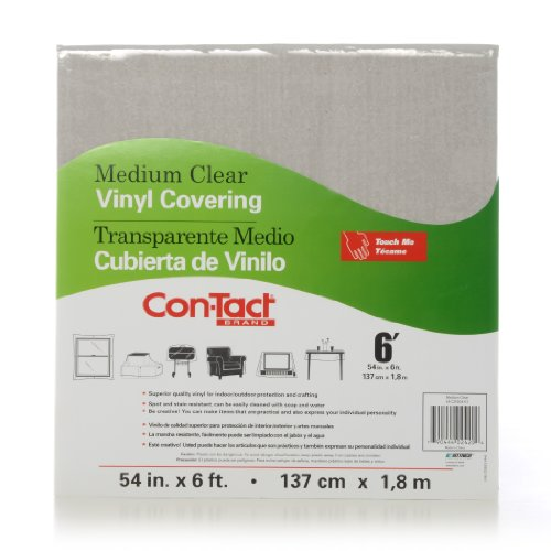 Con-Tact Brand Multipurpose Vinyl Covering, 54-Inches by 6-Feet, Medium Clear