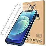iSOUL [2 Stück] Panzerglasfolie kompatibel mit iPhone 12 Mini [5,4 zoll] Bildschirmschutzfolie, 9H Festigkeit, Kratzfest, Blasenfrei Schutzfolie
