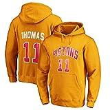 GZZ Sudadera Con Capucha De Baloncesto Para Hombres Y Mujeres Isiah Thomas # 11 Detroit Pistons Sudadera Chaqueta Fina De Manga Larga De Entrenamiento Suelto/Jogging (Color : C, Size : S)