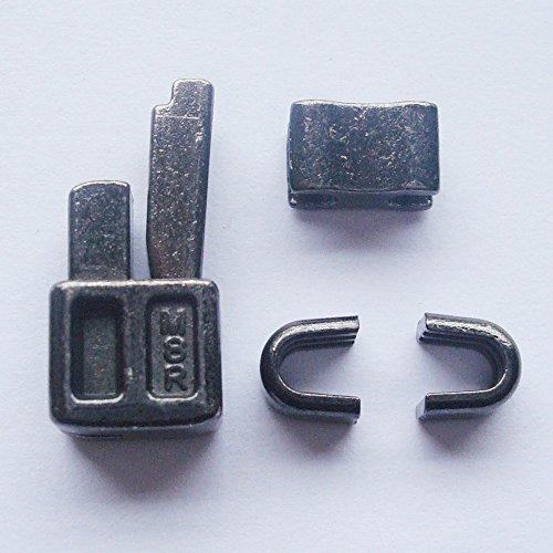 Reißverschlussreparaturset, metallfarben, 2 Stück, Reißverschluss, Schieber, Kastenteil, Steckteil, für einfache Reißverschlussreparatur, (#8)