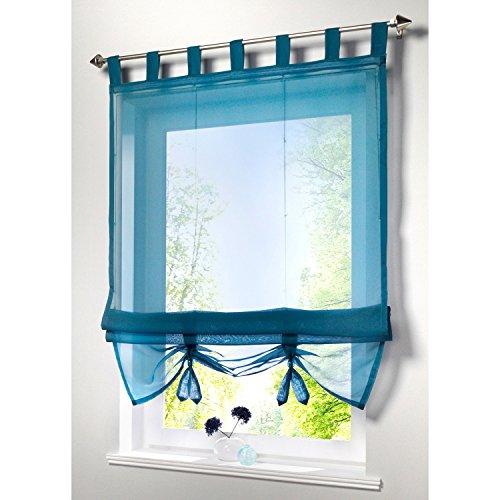 cortinas cortas para ventanas rusticas