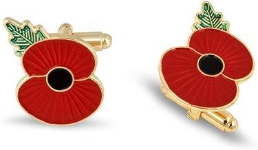 The Royal British Legion Ridge Poppy Cufflinks