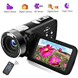 Camcorder Video Camera Full HD 18X Digital Zoom Night Vision Video Camcorder with LCD and 270 Degree Rotation Screen with Remote Control