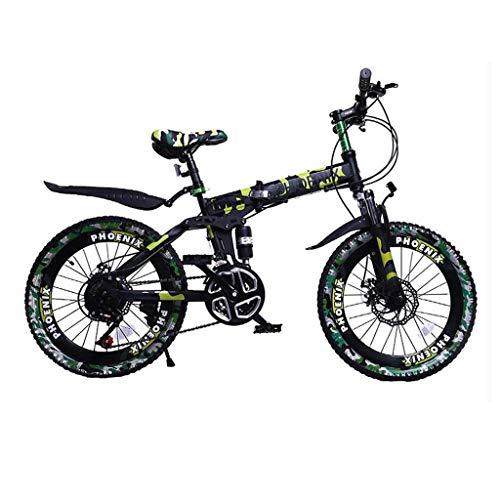 ZTBXQ Sport all'Aria Aperta Pendolare City Road Bike Viaggi in Bicicletta Bici per Bambini Bici per Bambini Bici da velocità per Ragazzi 6-15 Anni Mountain Bike Camo Brown