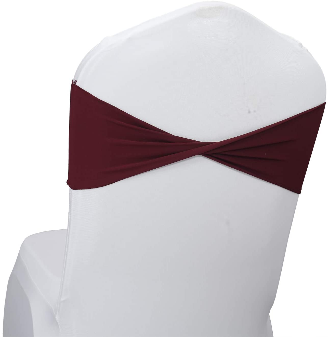 mds Pack Limited time trial favorite price of 100 Spandex Chair Sashes sash Band Elastic Bow