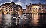 nonbranded Pittura Fai da Te in Base ai Numeri Paesaggio Bambini Adulti Pittura a Olio Senza Cornice Set Decorazioni per la casa Svizzera Zurigo Edificio sedie