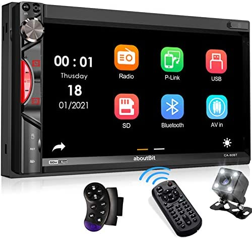 aboutBit Bluetooth Car Stereo Receiver 7 Inch HD Touchscreen Double Din Car Audio MP5 Multimedia product image