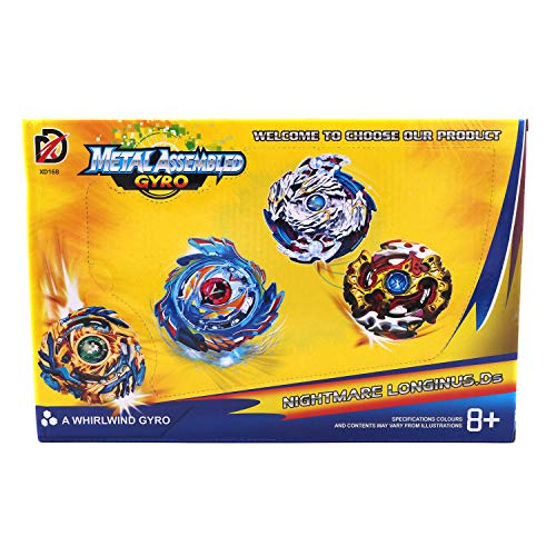 POFET Bey Battle Blade Burst 4D Set con Launcher Battling Tops Spinning Tops Storm Gyro Metal Fusion Battling Top Set Set de Inicio para niños