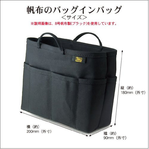 バンナイズ帆布のバッグインバッグ(8号帆布製/ブルー)