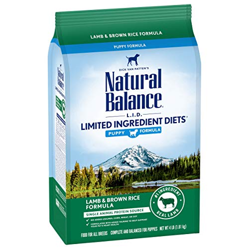 Natural Balance L.I.D. Limited Ingredient Diets Dry Dog Food, 4 Pounds, Lamb & Brown Rice Puppy Formula