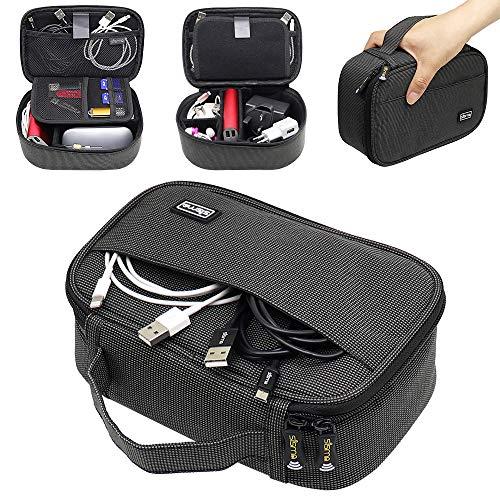Sisma Organizador de Viaje para Cables Cargadores Baterias Externas Adaptador Ratón Auriculares...