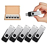 TOPESEL 5 Pack 64GB USB Flash Drives Memory Stick USB 2.0 Thumb Drives 64GB 5PCS, Black