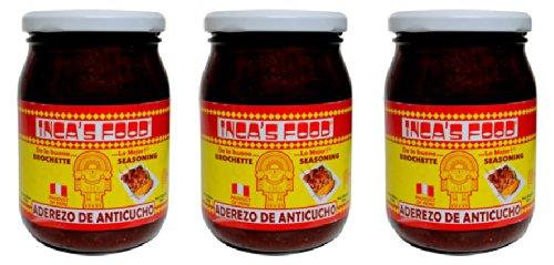 Inca's Food Gorgeous Aderezo Anticucho price Marinade 15 Peruvian Brochette for
