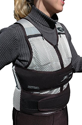 Ironwear Cool Vest (Long) Soft Flex-Metal@ Weights, Breathable 1 to 30 Lb. Weighted Vest Made in USA