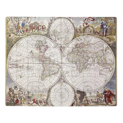 Tamengi Mapa del mundo de Atlas Maior Jigsaw Puzzle 1000 500 piezas