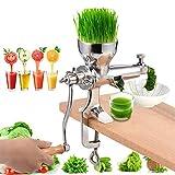 Exprimidor manual de cítricos – Acero inoxidable para hierba de trigo, exprimidor de hierba de trigo, exprimidor de zumo para frutas, verduras, jengibre, granada