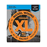 D'Addario Nickel Wound Electric Guitar Strings, 1-Pack, Regular Light, 7-String, 10-59