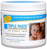 Triple Paste Diaper Rash Cream, Hypoallergenic Medicated Ointment for Babies, 16 oz