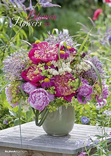 Blumen 2021 - Bild-Kalender A3 (29,7x42 cm) - Flowers - Wandplaner - mit Platz für Notizen - Alpha Edition