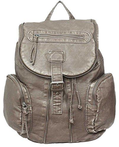 .:.NEUHEIT.:. Vintage Rucksack Kunstleder PRIMARK ATMOSPHERE Beige