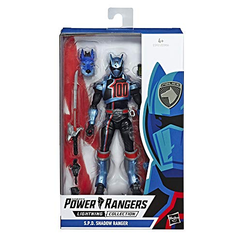Power Rangers E5931ES0 Lightning Collection, 15 cm grote S.P.D. Shadow Rangers Action Figuur om te verzamelen, multicolor