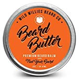Beard Balm Conditioner for Men - Wild Willie's Beard Butter - Amazing Beard Balm with 13 Natural Locally Sourced Ingredients to Condition and Treat Your Beard Or Mustache at The Same Time. (1)
