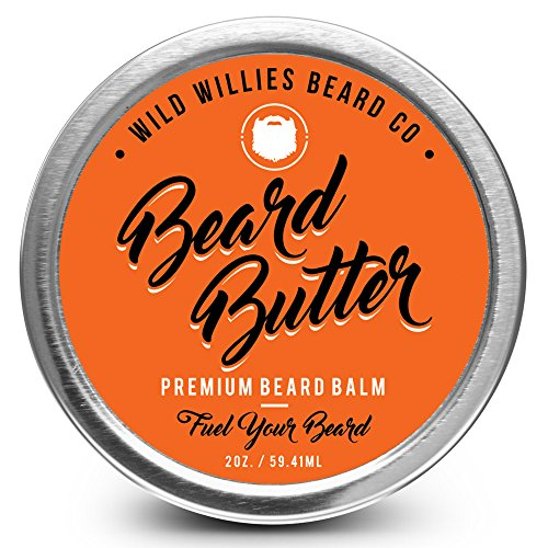 Beard Balm Conditioner for Men - Wild Willie's Beard Butter - Amazing Beard Balm with 13 Natural Locally Sourced Ingredients to Condition and Treat Your Beard Or Mustache at The Same Time. (1) (Best Place To Get Beard Trimmed)