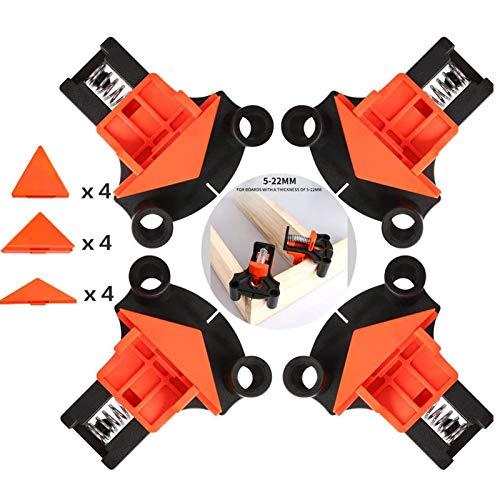 Abrazadera de Angulo Recto, Abrazadera de Esquina Fijador Multiángulo 60 Grados 90 Grados 120 Grados Herramientas Manuales de Bricolaje Adecuado para Carpintería