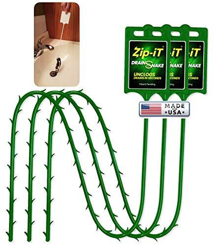 3PK Zip-It® Drain Cleaner from Original Inventor